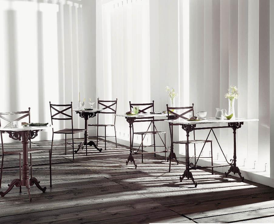 Tables bistrot marbre fer forges images - Table fer forge blanc ...