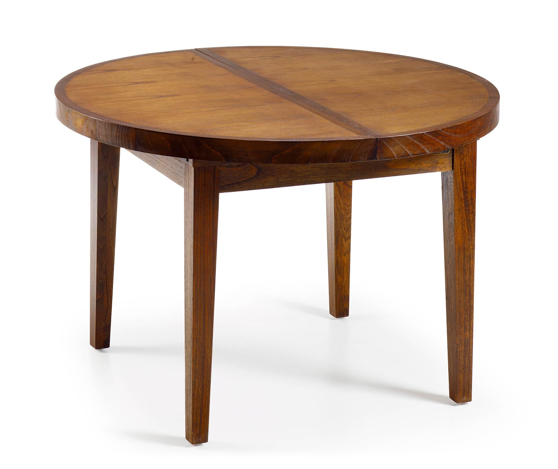 Table ronde en bois avec rallonge portefeuille int gr for Table ronde scandinave avec rallonge