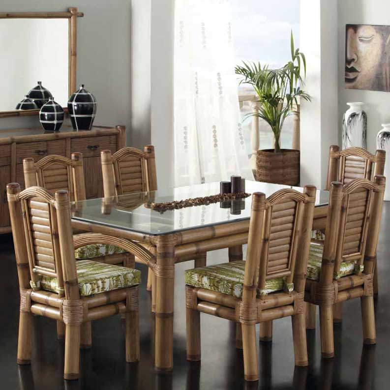 Table Salle à Manger En Bambou Noka 3061