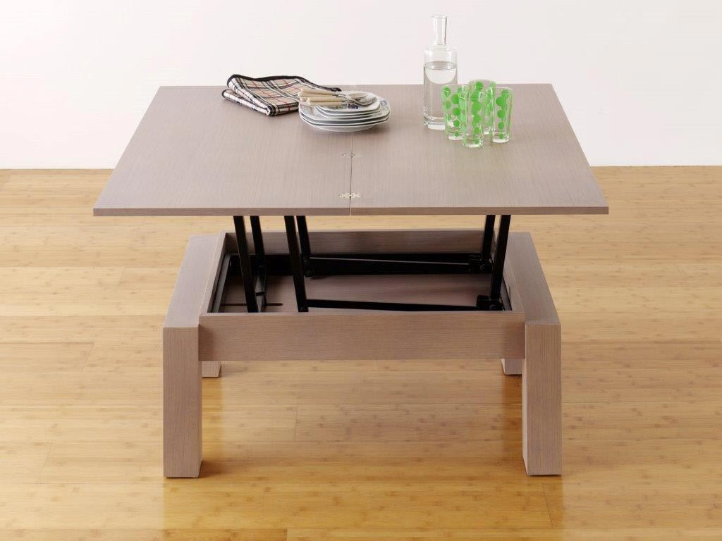 Table basse transformable petty deux meubles en un - Table basse transformable en table haute ...