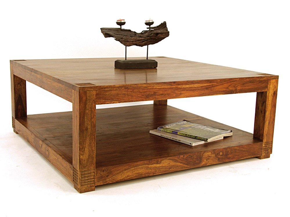 table basse carr e 100 palissandre. Black Bedroom Furniture Sets. Home Design Ideas