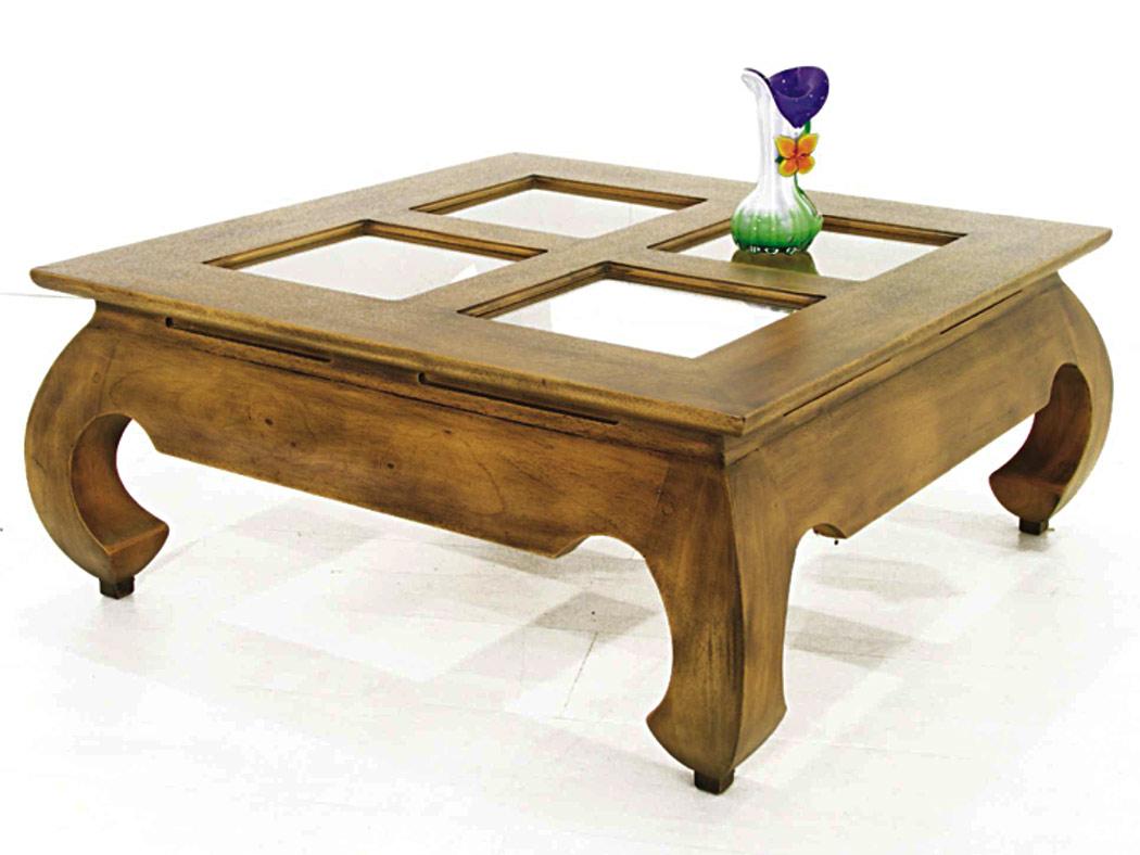 table basse opium avec plateau verre 80 cm 6483. Black Bedroom Furniture Sets. Home Design Ideas