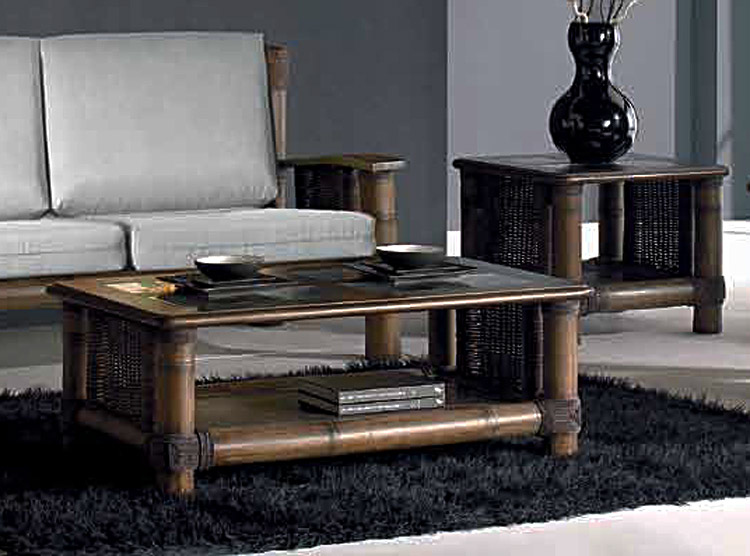 table basse bambou rotin bois et verre tropicana wenge 4412. Black Bedroom Furniture Sets. Home Design Ideas