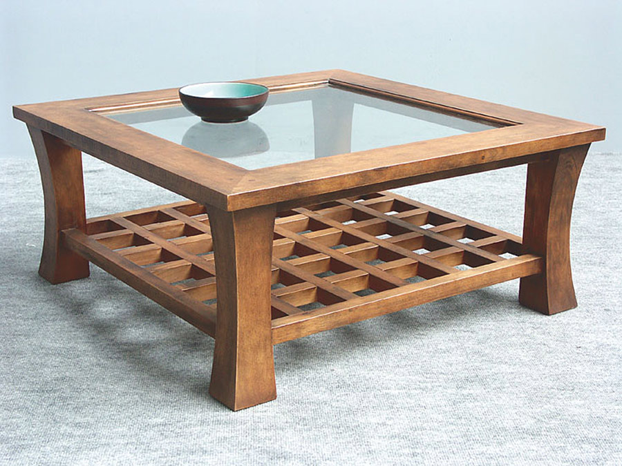 Table basse carr dessus verre jorg 5394 - Table basse 80x80 ...