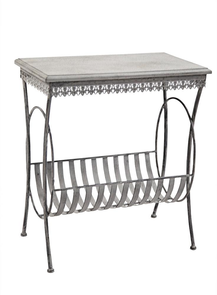 Table basse bout de canap porte revues 6261 - Bout de canape bois et fer forge ...