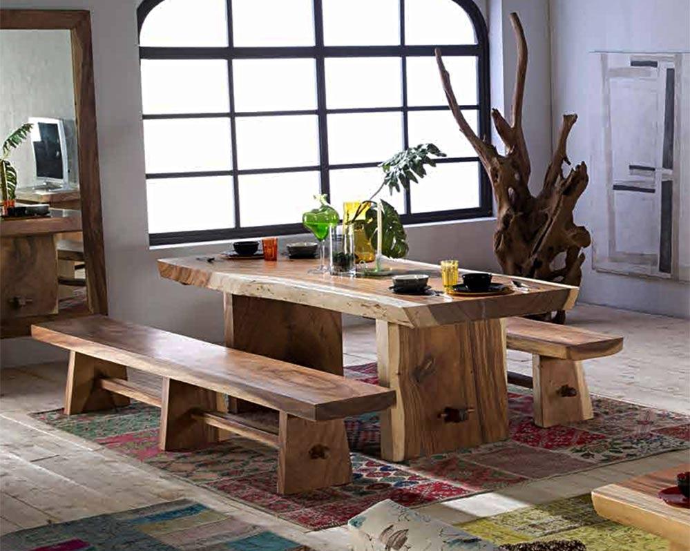 table repas en suar massif. Black Bedroom Furniture Sets. Home Design Ideas