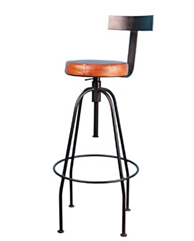 tabouret de bar acier et cuir tournat et r glable. Black Bedroom Furniture Sets. Home Design Ideas