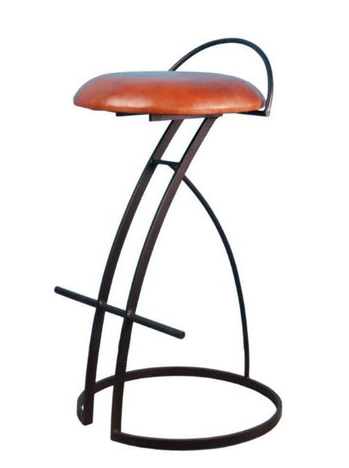 578e524317bebc ... Tabouret Bar Cuir Marron by Tabouret De Bar Assise Cuir Marron 216 46  76 Cm ...