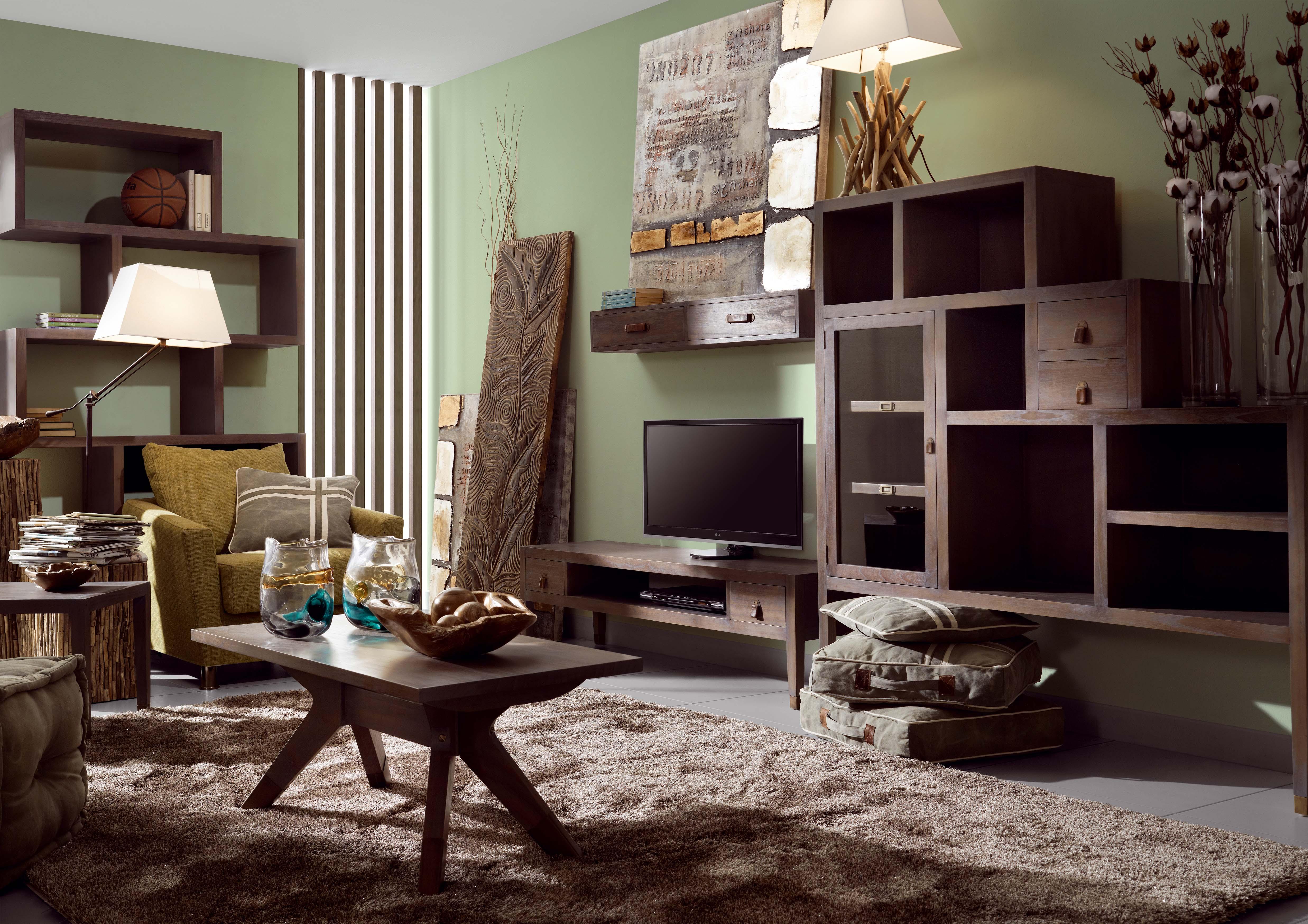 tag re murale en bois gris avec 2 tiroirs collection tana. Black Bedroom Furniture Sets. Home Design Ideas