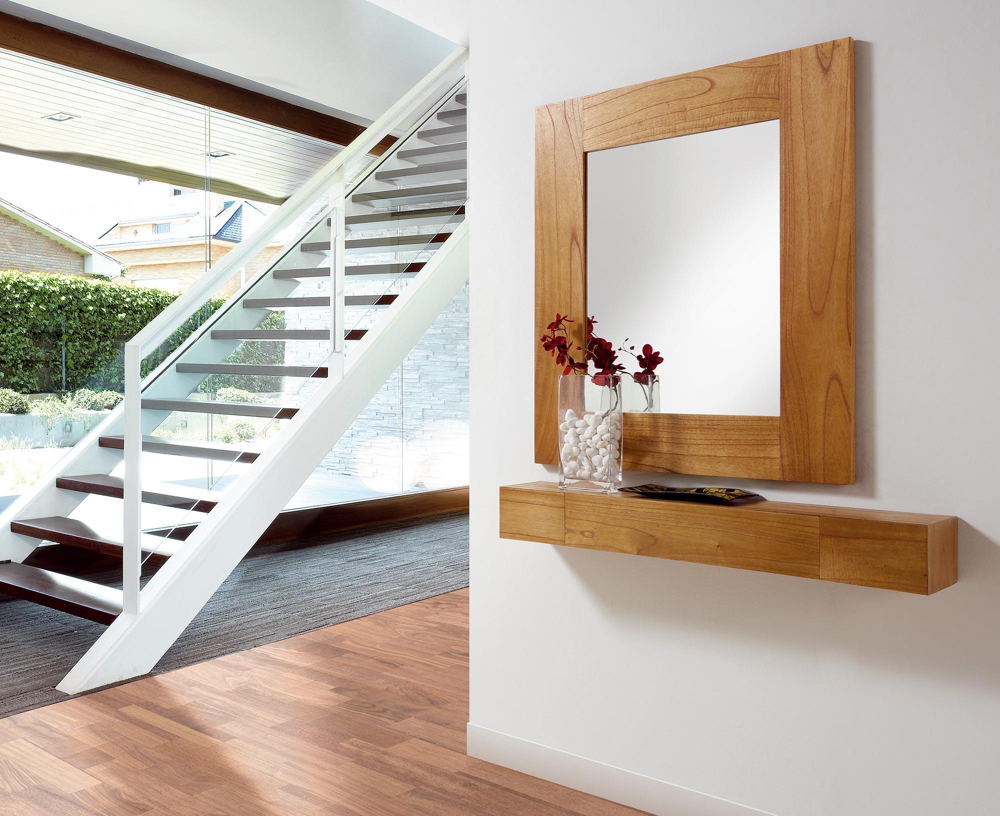 tag re murale en bois naturel 90 20 6. Black Bedroom Furniture Sets. Home Design Ideas