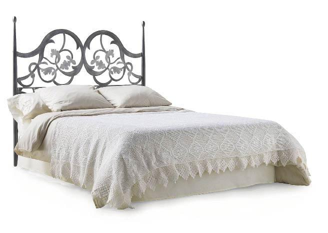 t te de lit style romantique en acier forg foralia 5865. Black Bedroom Furniture Sets. Home Design Ideas