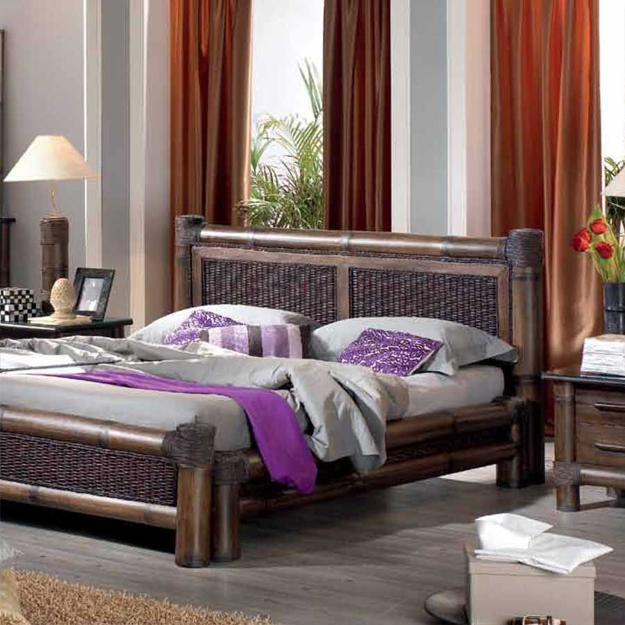 t te de lit bambou rotin 140 cm tropicana 3586. Black Bedroom Furniture Sets. Home Design Ideas