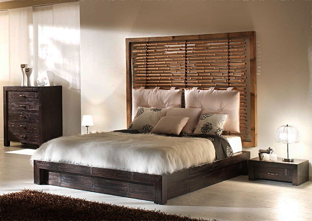 lit bambou entourage t te en option et sommier au choix. Black Bedroom Furniture Sets. Home Design Ideas