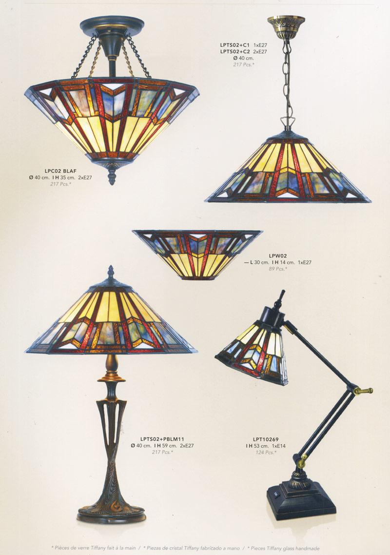 Lampe Pate De Verre Style Tiffany 3748