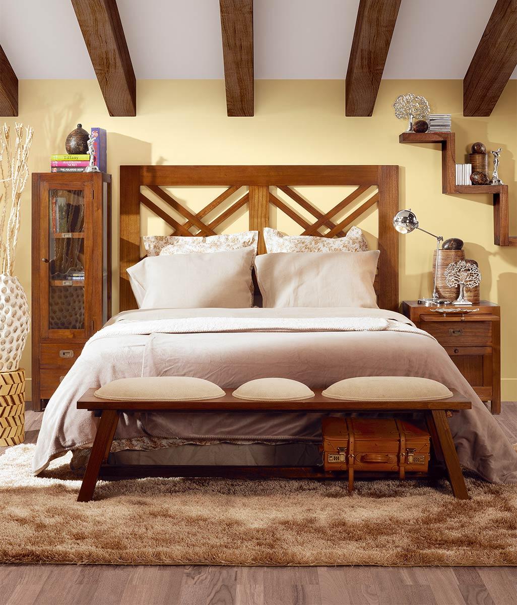 t te de lit 2 personnes en bois de mindy dimension 165 140 collection mawan. Black Bedroom Furniture Sets. Home Design Ideas