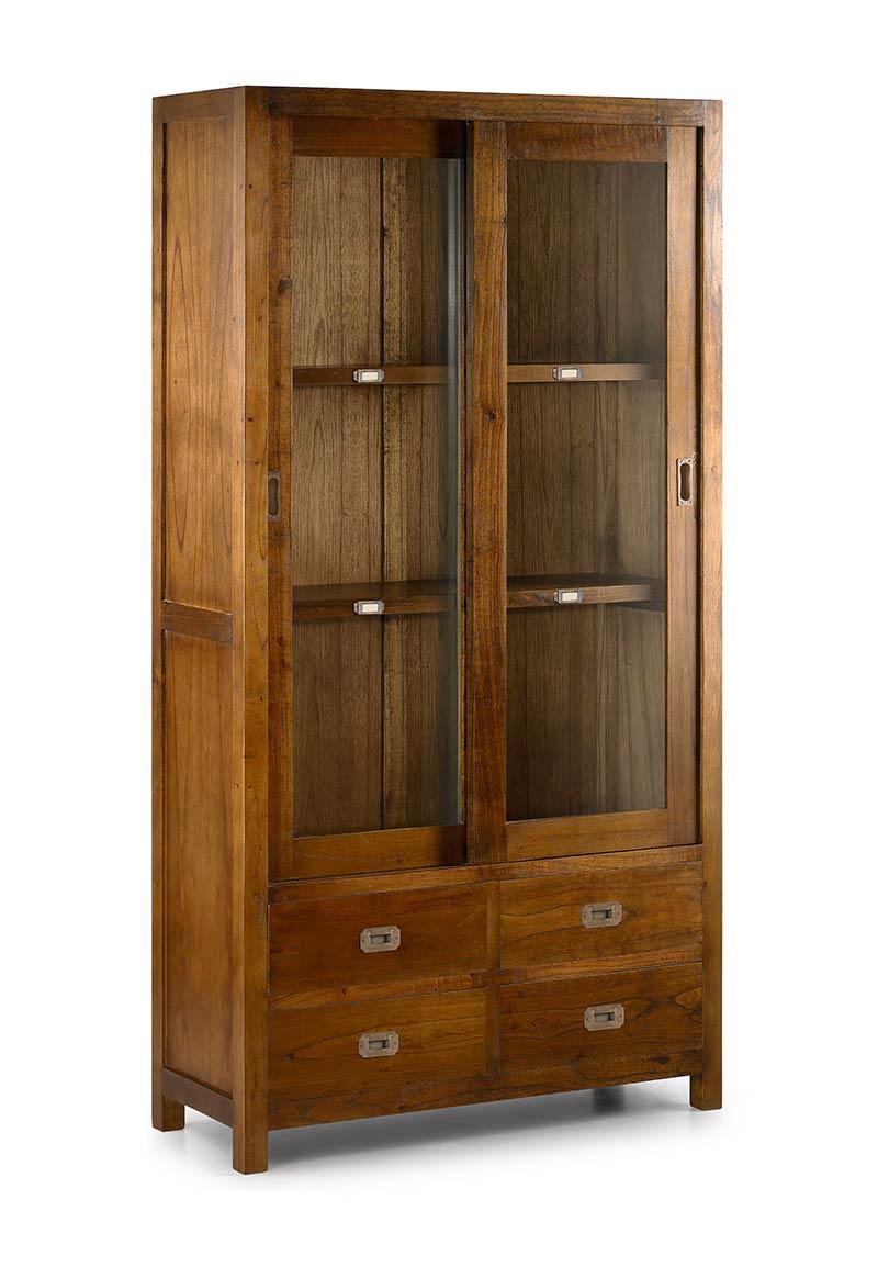 vitrine vaisselier d 39 exposition en bois de mindy 2 portes. Black Bedroom Furniture Sets. Home Design Ideas