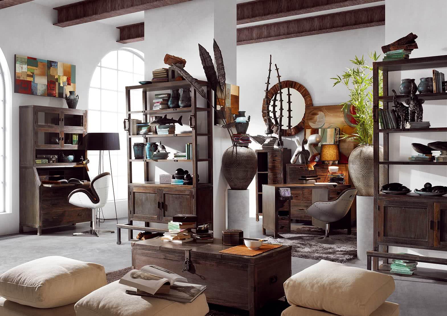 Meubles en bois et métal, le style industriel, jader