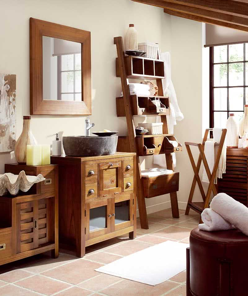 meuble de salle de bain bambou salle de bain en bois exotique. Black Bedroom Furniture Sets. Home Design Ideas