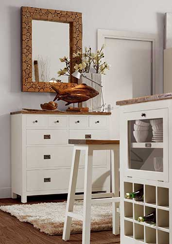 Meubles de cuisine blanc, collection Abume