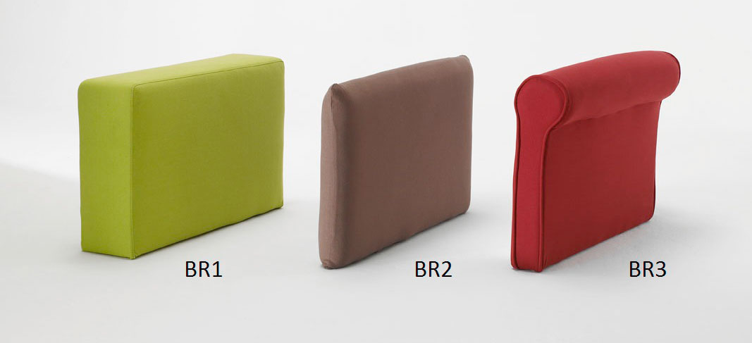 Choix de vos accoudoirs pour votre canapé convertible, 3 modèles au choix