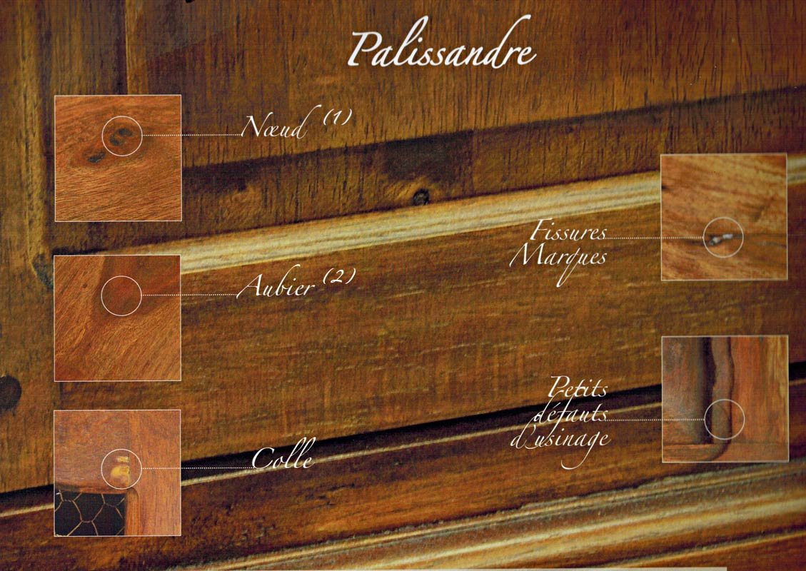 Défaut du bois de palissandre