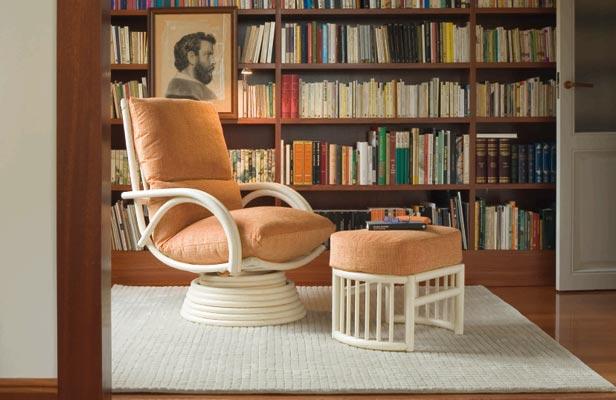 Fauteuil à bascule Royal Rattan - Choix de la couleur & tissu - Personnaliser votre fauteuil