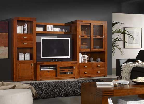 Meubles modulables bois et teck haut de gamme au style design - Meubles tv modulables ...