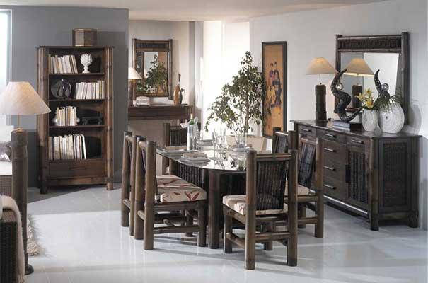 Tropicana meubles bambou haut de gamme for Salle a manger wenge