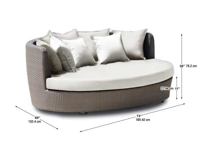 Dimensions complètes du sofa 3 places (croquis)