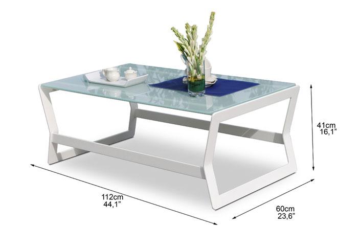 Dimensions complètes de la table basse Marine (croquis)