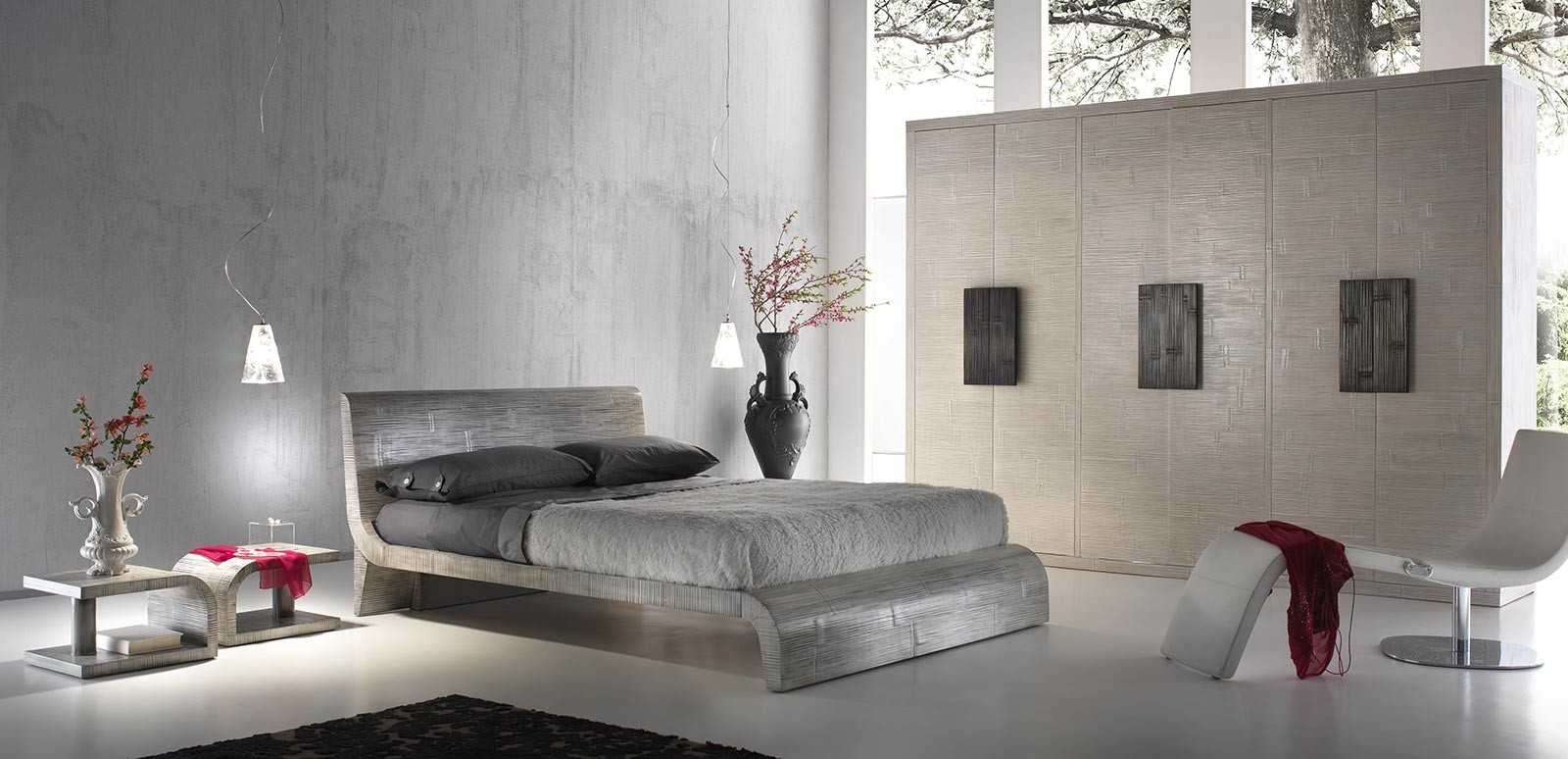 Chambre Wave, desig contemporain, matériaux exotiques