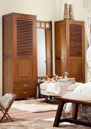 Armoire dressing pour chambre adulte en bois de mindy Mawan