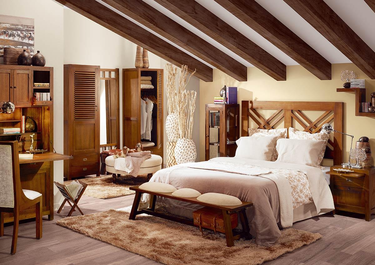La chambre en bois Mawan