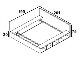 Dimension de l'encadrage et de la tête de lit, couchage 150*190
