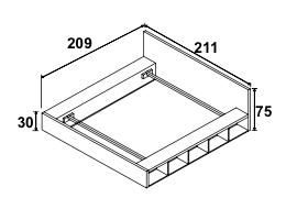Dimension de l'encadrage et de la tête de lit, couchage 160*200