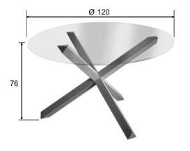 Dimensions table salle à manger Mikado