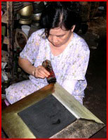 Objet laqué au Vietnam
