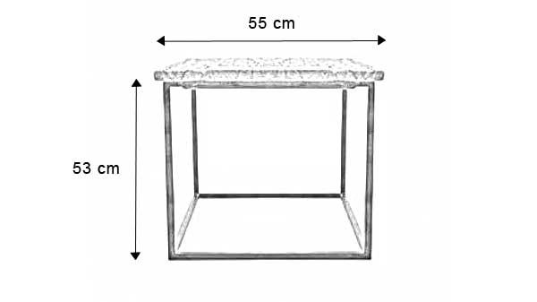 Dimensions de la table d'appoint en bois Appeal - Réalisable sur mesure - Contactez-nous