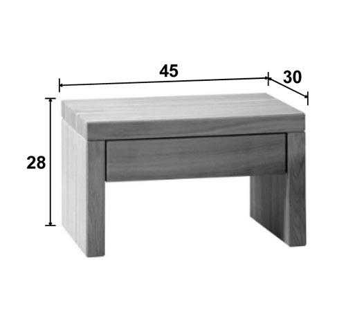 dimension table de nuit conceptions de maison. Black Bedroom Furniture Sets. Home Design Ideas