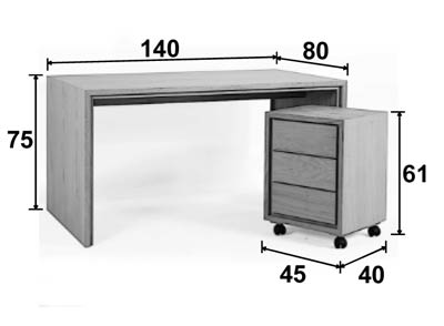 bureau multim dia ch ne 140 cm personnalisable groomy 5774. Black Bedroom Furniture Sets. Home Design Ideas