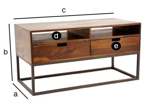 Dimensions détailles du meuble TV Crispy