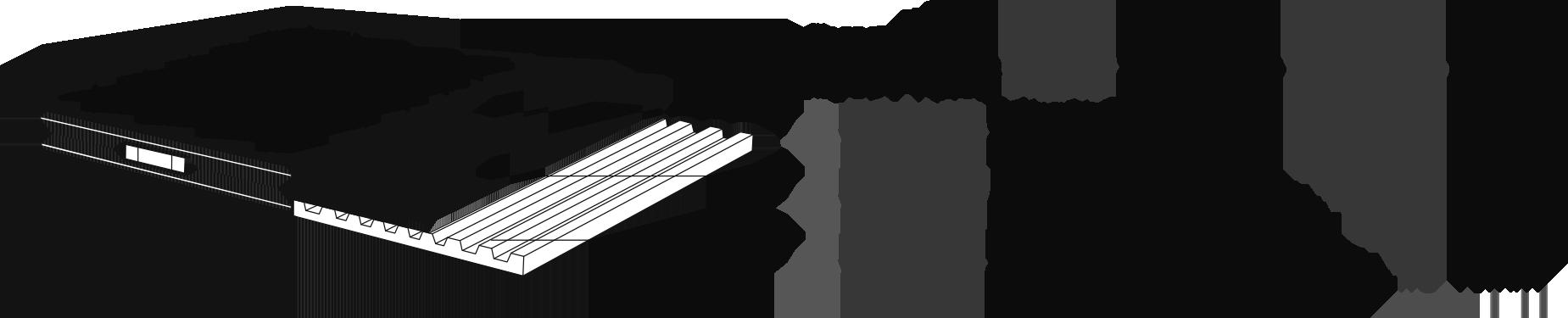 Composition du matelas : BFOAM 35 kg / m3, BFOAM 40 kg / m3, BFOAM 35 kg / m3