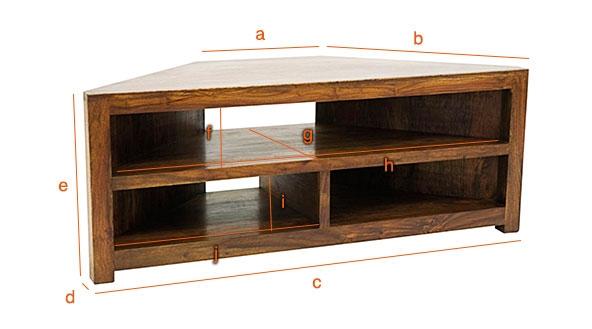 Dimensions du meuble d'angle télévision