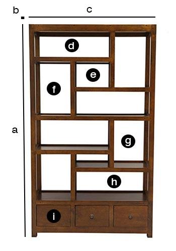 Dimensions de l'étagère bibliothèque déstructurée