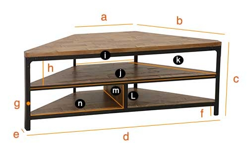 indus meuble tv d 39 angle style industriel. Black Bedroom Furniture Sets. Home Design Ideas