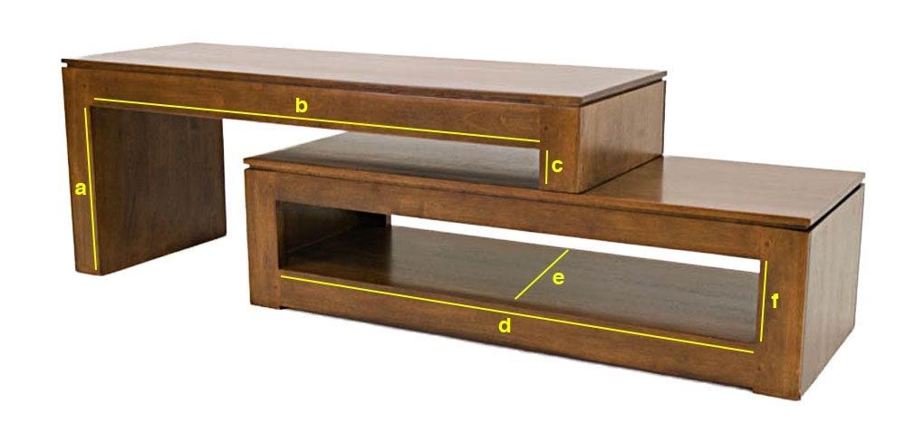 meuble tv vid o modulable en h v a 2 parties 5968. Black Bedroom Furniture Sets. Home Design Ideas