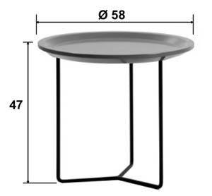 Table Muggy petit modèle diamètre 48 * hauteur 51 cm