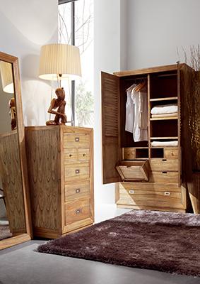 Armoire penderie à vêtement en bois Ronja