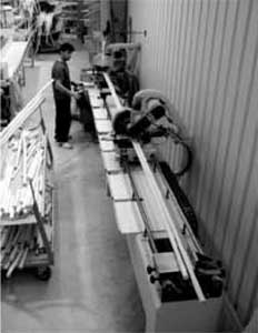 Étape de fabrication - Découpe du rotin