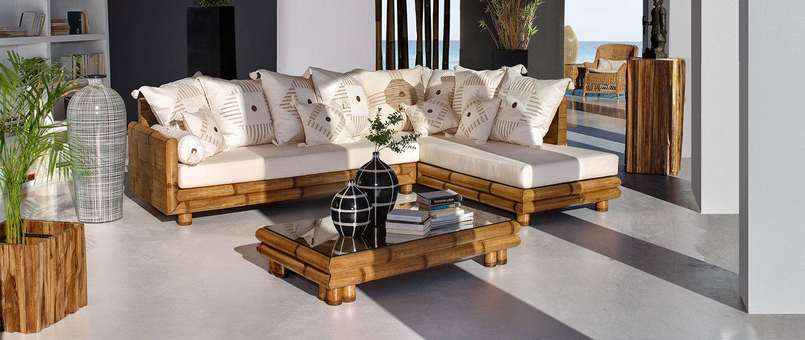 Salons et Living en bambou - Un intérieur chic et exotique avec Art ...